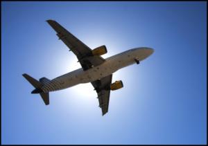 Mit dem Flugzeug auf Reise