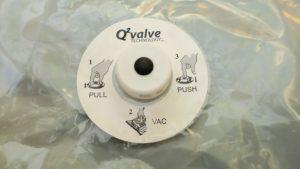 Packmate ® Vakuumbeutel Ventil von oben
